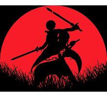 Kirito Yuuki Asuna Red Moon Photographic Print
