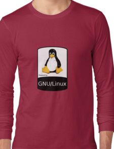 Powered by GNU/Linux ! Long Sleeve T-Shirt