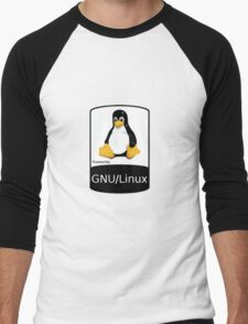 Powered by GNU/Linux ! Men's Baseball ¾ T-Shirt