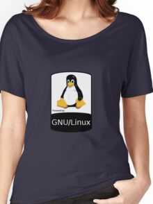 Powered by GNU/Linux ! Women's Relaxed Fit T-Shirt