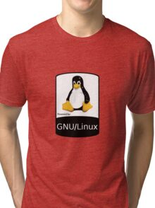 Powered by GNU/Linux ! Tri-blend T-Shirt