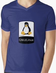 Powered by GNU/Linux ! Mens V-Neck T-Shirt