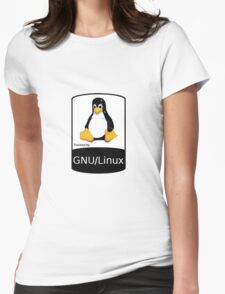 Powered by GNU/Linux ! Womens Fitted T-Shirt