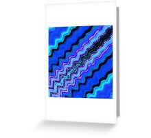 Blue Tranquil Waves Greeting Card
