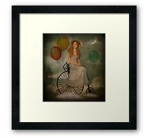 The Bicycle Ride... Framed Print