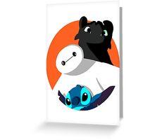 Three cuties Greeting Card