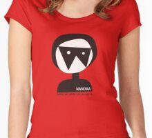 Wandaa: Women & Animation Australia - B&W Women's Fitted Scoop T-Shirt