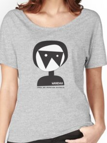 Wandaa: Women & Animation Australia - B&W Women's Relaxed Fit T-Shirt