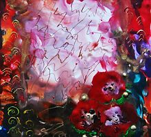 Poppies and gold by Inese