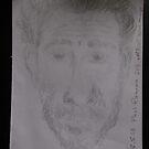 Self-portrait before mirror -(230516)- Graphite stick by paulramnora