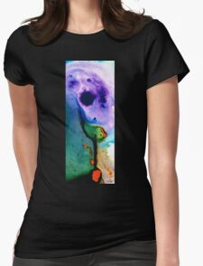 Paradise Found - Colorful Abstract Painting Womens Fitted T-Shirt