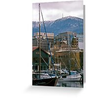 Victoria Dock, Hobart—Kodachrome 64 Greeting Card