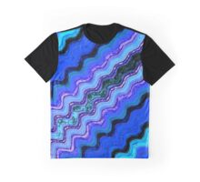 Blue Tranquil Waves Graphic T-Shirt
