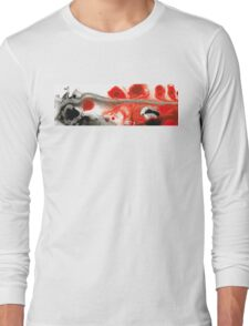 All Things Considered - Red Black And White Art Long Sleeve T-Shirt
