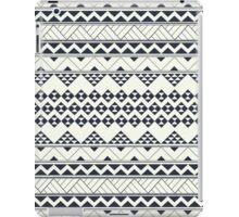 Tribal Polynesian zigzag triangular pattern monocromatic iPad Case/Skin