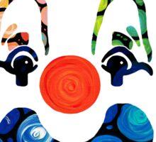 Clownin Around - Funny Circus Clown Art Sticker