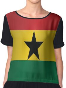 Ghana flag Women's Chiffon Top