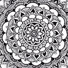 Blossom Mandala Tangle by Vickie Simons