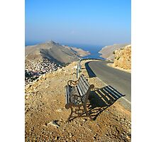seat for tired travelers Photographic Print