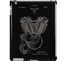 Harley Davidson Engine Patent 1923 iPad Case/Skin