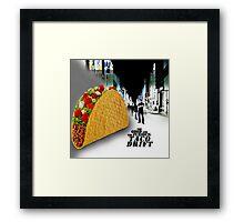 Taco drift Framed Print