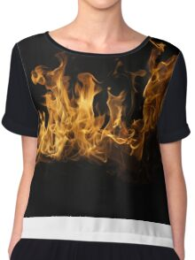 Fierce Flame Chiffon Top
