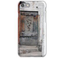Carved Weathered Wood Door iPhone Case/Skin