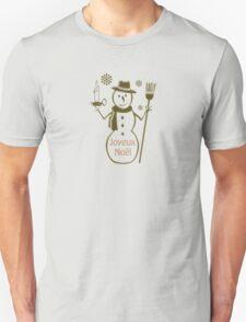 Gold Snowman French Merry Christmas Joyeux Noel Unisex T-Shirt