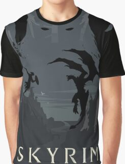 Skyrim Poster (black) Graphic T-Shirt
