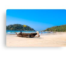 Slow day at the beach Canvas Print