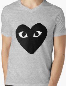 comme des garcons logo Mens V-Neck T-Shirt