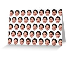 Justin Trudeau face  Greeting Card