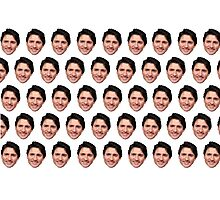 Justin Trudeau face  Photographic Print