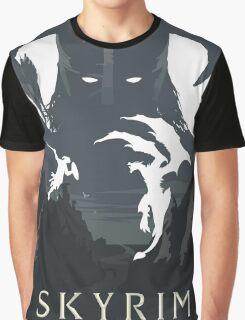 Skyrim Poster (white) Graphic T-Shirt