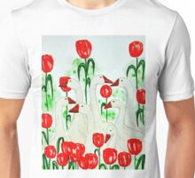 geese and tulips Unisex T-Shirt