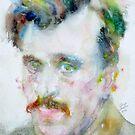 ARSHILE GORKY - watercolor portrait by lautir