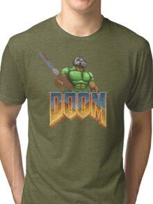 DOOM SPACE MARINE (1) Tri-blend T-Shirt