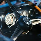 Vintage Ford coupe steering wheel and dashboard by htrdesigns