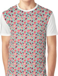 flat flowers Graphic T-Shirt