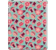 flat flowers iPad Case/Skin