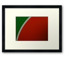 Abstract Watermelon  Framed Print