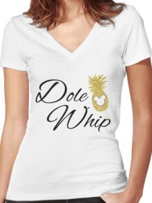 Dole Whip Women's Fitted V-Neck T-Shirt