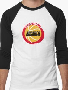 HOUSTON ROCKETS BASKETBALL RETRO Men's Baseball ¾ T-Shirt