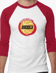 HOUSTON ROCKETS BASKETBALL RETRO Men's Baseball ¾ T-Shirt