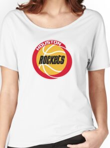 HOUSTON ROCKETS BASKETBALL RETRO Women's Relaxed Fit T-Shirt