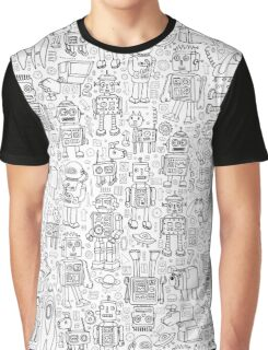 Robot pattern - black and white Graphic T-Shirt