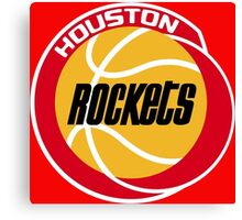 HOUSTON ROCKETS BASKETBALL RETRO Canvas Print