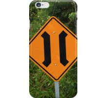 Narrow Bridge Road Sign iPhone Case/Skin