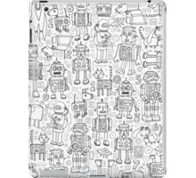 Robot pattern - black and white iPad Case/Skin