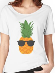 Cool Pineapple With Sunglasses Women's Relaxed Fit T-Shirt